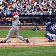 Todd Frazier, Cincinnati Reds,  batting during the New York Mets Vs Cincinnati Reds MLB regular season baseball game at Citi Field, Queens, New York. USA. 28th June 2015. Photo Tim Clayton