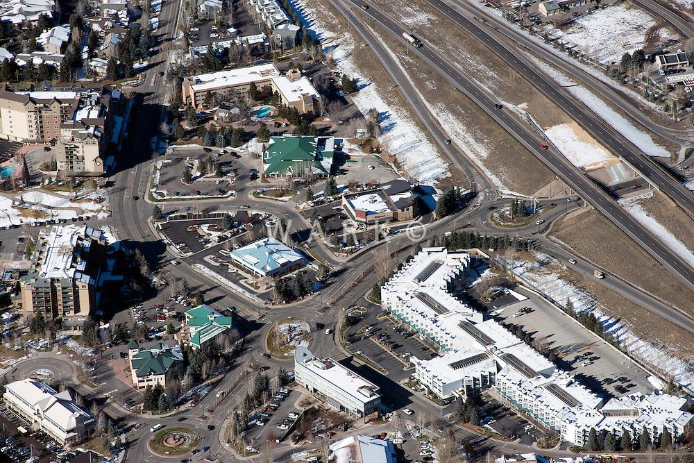 Aerial of Avon, Colorado. Oct 2012