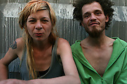 Lila and pasha are resting on the pavement after a long-time period of drug-using and alcohol-drinking. .Lila and Pasha live together for five years. They have a daughter, Anfisa, 2 years old. They are punks and drug-users, their home is often noisy and full of occasional guests. Lilya has sexually transmitted desease and doesn't know her HIV diagnoses. Unthough all that, they love each other and their little daughter and try to take care of her properly.