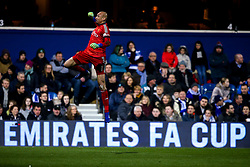 Heurelho Gomes of Watford celebrates Etienne Capoue of Watford scoring a goal to make it 1-0 - Mandatory by-line: Robbie Stephenson/JMP - 15/02/2019 - FOOTBALL - Loftus Road - London, England - Queens Park Rangers v Watford - Emirates FA Cup fifth round proper