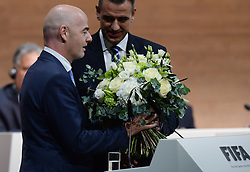26.02.2016, Zürcher Hallenstadion, Zuerich, SUI, FIFA Kongress und Präsidentenwahl, im Bild Gianni Infantino (SUI) is elected new FIFA President at the FIFA congress in Zurich // during the extraordinary FIFA congress. Delegates of the soccer body FIFA meet to elect a new president at the Zürcher Hallenstadion in Zuerich, Switzerland on 2016/02/26. EXPA Pictures © 2016, PhotoCredit: EXPA/ Freshfocus/ Steffen Schmidt<br /> <br /> *****ATTENTION - for AUT, SLO, CRO, SRB, BIH, MAZ only*****