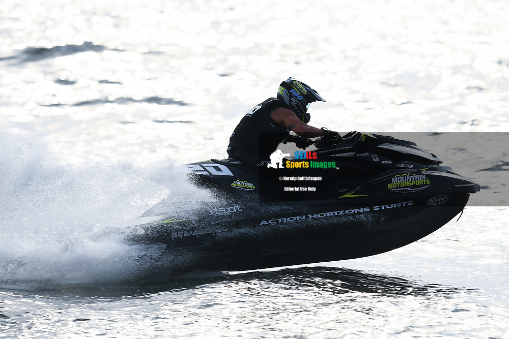 PATTAYA, THAILAND - DECEMBER 09: Guy Greenland (20) of Australia and Germany in action during the Pro Runabout GP Moto4 at the Thai Airways International Jet Ski World Cup 2018, Jomtien Beach, Pattaya, Thailand on December 09, 2018. <br /> .<br /> .<br /> .<br /> (Photo by: Naratip Golf Srisupab/SEALs Sports Images)<br /> .<br /> Any image use must include a mandatory credit line adjacent to the content which should read: Naratip Golf Srisupab/SEALs Sports Images