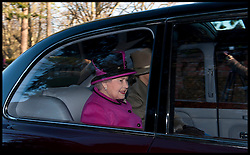 HM The Queen attends church on the Sandringham Estate, Sunday December 30, 2012. Photo: Andrew Parsons / i-Images