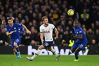 Football - 2019 / 2020 Premier League - Tottenham Hotspur vs. Chelsea<br /> <br /> Tottenham Hotspur's Harry Kane battles for possession with Chelsea's Kurt Zouma, at The Tottenham Hotspur Stadium.<br /> <br /> COLORSPORT/ASHLEY WESTERN