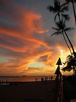 Hawaii Luau sunset