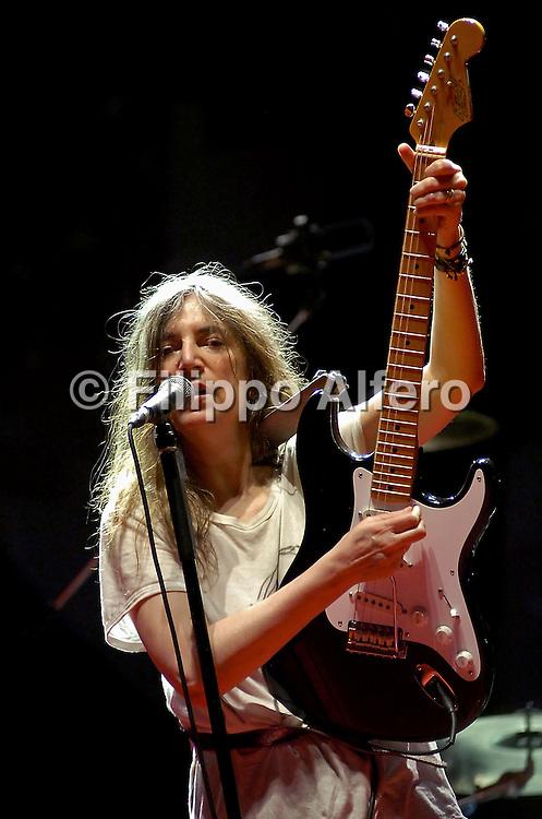 &copy; Filippo Alfero<br /> Misano Adriatico (RN), 29,30/06/2007<br /> World Ducati Week 2007<br /> Nella foto: Patti Smith in concerto