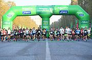 in the 43rd Paris Marathon in IAAF Gold Label road race in Paris, Sunday, April 14, 2019. (Jiro Mochizuki/Image of Sport)