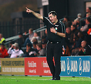 Barnet Manager Martin Allen issues instructions from the touchline during the Sky Bet League 2 match between Barnet and Exeter City at The Hive Stadium, London, England on 31 October 2015. Photo by Bennett Dean.