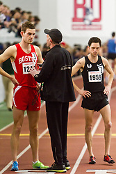 Boston University Terrier Invitational Indoor Track Meet: Galen Rupp, Oregon Project, wins Elite Mile 3:50.92, Alberto Salazar instructs pacesetter Stuart Ross, Boston U,