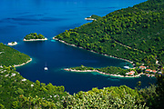 The bay at Prozurska Luka, Mljet Island, Dalmation Coast, Croatia