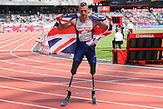 Richard Whitehead GBR in the Mens 200m T42 sets a new world record in 23.03 during the Muller Anniversary Games at the Stadium, Queen Elizabeth Olympic Park, London, United Kingdom on 23 July 2016. Photo by Phil Duncan.