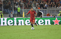 September 12, 2017 - Rome, Lazio, Italy - Bruno Peres during the UEFA Champions League group C football match AS Roma vs Atletico Madrid FC at the Olympic Stadium in Rome, on september 12, 2017. (Credit Image: © Silvia Lore/NurPhoto via ZUMA Press)