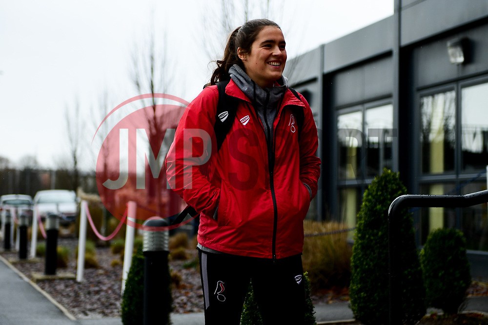 Eartha Cumings of Bristol City arrives at Stoke Gifford Stadium prior to kick off - Mandatory by-line: Ryan Hiscott/JMP - 08/12/2019 - FOOTBALL - Stoke Gifford Stadium - Bristol, England - Bristol City Women v Birmingham City Women - Barclays FA Women's Super League