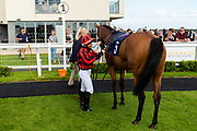 Union Rose ridden by Raul Da Silva and trained by Ronald Harris in the University And Literary Club Veterans' Handicap race. - Ryan Hiscott/JMP - 21/08/2019 - PR - Bath Racecourse - Bath, England - Race Meeting at Bath Racecourse