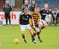 Dundee&rsquo;s Max Anderson and Alloa Athletic's Iain Flannigan - Dundee under 20s v Alloa Athletic in the Irn Bru Cup Round 1 at Dens Park, Dundee - photograph by David Young<br /> <br />  - &copy; David Young - www.davidyoungphoto.co.uk - email: davidyoungphoto@gmail.com