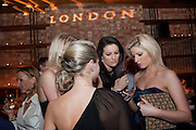 DANIELLE LANGLEY; LUCY PALMER; DANIELLE COYLE; NATALIE COYLE, MYLA 10th ANNIVERSARY PARTY, Almada, Berkeley st. London. 17 November 2010. -DO NOT ARCHIVE-© Copyright Photograph by Dafydd Jones. 248 Clapham Rd. London SW9 0PZ. Tel 0207 820 0771. www.dafjones.com.