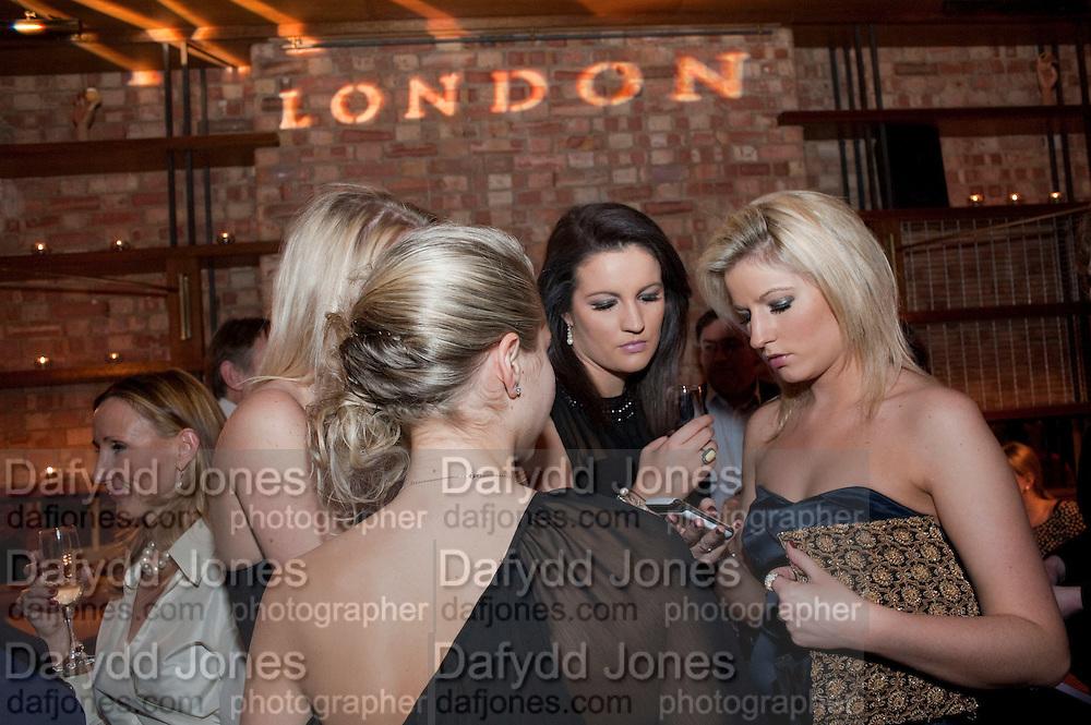 DANIELLE LANGLEY; LUCY PALMER; DANIELLE COYLE; NATALIE COYLE, MYLA 10th ANNIVERSARY PARTY, Almada, Berkeley st. London. 17 November 2010. -DO NOT ARCHIVE-© Copyright Photograph by Dafydd Jones. 248 Clapham Rd. London SW9 0PZ. Tel 0207 820 0771. www.dafjones.com.