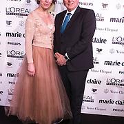 NLD/Amsterdam/20150119 - De Marie Claire Prix de la Mode awards, Hans Poulijn en partner