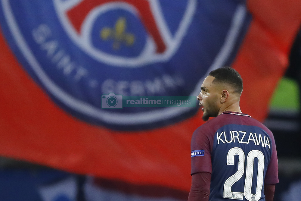 October 31, 2017 - Paris, Ile de France, France - Layvin Kurzawa (psg) apres son but (Credit Image: © Panoramic via ZUMA Press)
