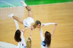 Cheerleaders Dragon Ladies perform during basketball match between KK Union Olimpija Ljubljana (SLO) and JDA Dijon (FRA) in 6th Round of EuroCup 2014/15, on February 11, 2015 in Arena Stozice, Ljubljana, Slovenia. Photo by Vid Ponikvar / Sportida