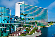 Hyatt Regency Hotel, Rainbow Lagoon Park, Long Beach CA
