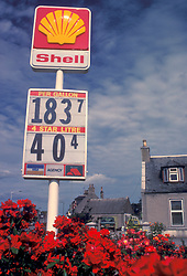 old Shell gas price sign