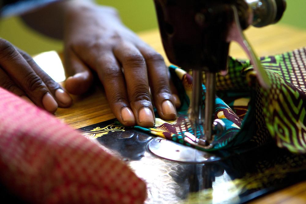 Tailor at Wrap Up Africa, Kampala, Uganda