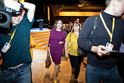 © Licensed to London News Pictures . 15/09/2019. Bournemouth, UK. Lib Dem leader JO SWINSON leaves the conference venue after voting to pass a motion to revoke article 50 should they form the next government. The Liberal Democrat Party Conference at the Bournemouth International Centre . Photo credit: Joel Goodman/LNP