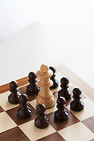 King Threatened by Pawns