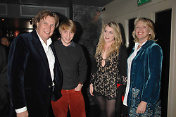 Left to right, THEO FENNELL, HARRY GRENFELL, COCO FENNELL and LOUISE FENNELL at a party hosted by Kitts nightclub in honour of Ed Godrich to than him for his work on designing the club in Sloane Square, London on 1st March 2007.<br /><br />NON EXCLUSIVE - WORLD RIGHTS