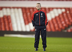 NOTTINGHAM, ENGLAND - Thursday, February 4, 2016: Liverpool Under-18 manager Neil Critchley on the pitch ahead of the FA Youth Cup 5th Round match against Nottingham Forest at the City Ground. (Pic by David Rawcliffe/Propaganda)