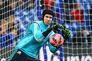 Petr Cech of Chelsea warms up before the FA Cup match at Stamford Bridge, London<br /> Picture by David Horn/Focus Images Ltd +44 7545 970036<br /> 04/01/2015