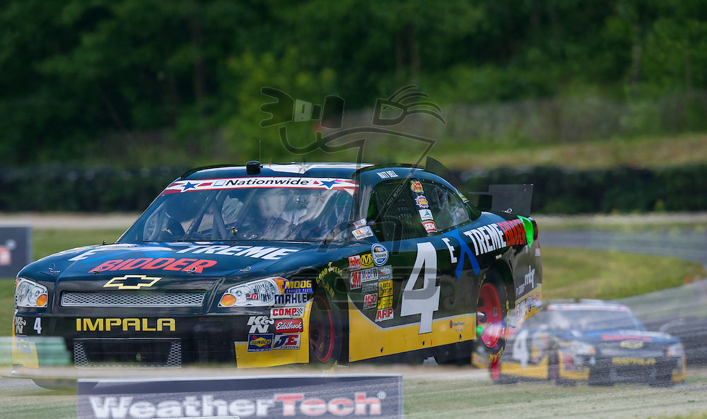 Elkhart Lake,WI - JUN 22, 2012: Matt Bell (4) takes to the track during the first practice for the Sargento 200  race at Road of America in Elkhart Lake , WI.