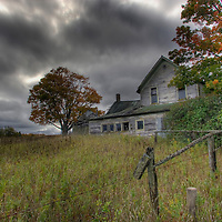 Old Farm and House along Route 77 in the UP of Michigan
