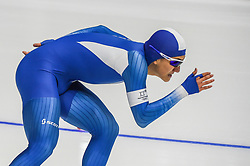 February 23, 2018 - Pyeongchang, Gangwon, South Korea - Chung Jaewoong of  South Korea  at 1000 meter speedskating at winter olympics, Gangneung South Korea on February 23, 2018. (Credit Image: © Ulrik Pedersen/NurPhoto via ZUMA Press)