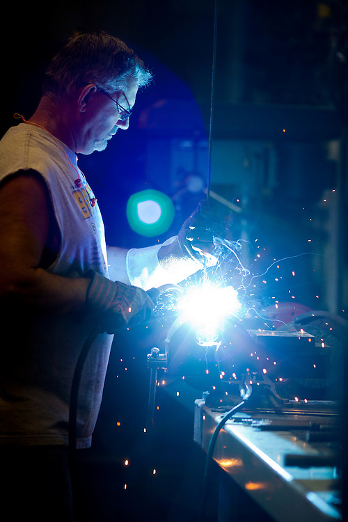 Mel Schappert specializes in custom plasma cutting, metal sculpture, rock and flower yard art designs. Rebecca F. Miller/Freelance for The Gazette
