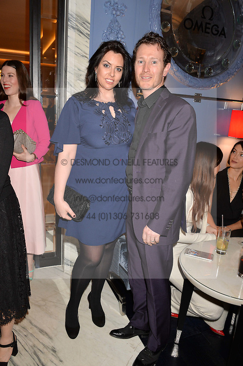 LONDON, ENGLAND 8 DECEMBER 2016: Nick Moran, Jasmine Moran at the Omega Constellation Globemaster Dinner at Marcus, The Berkeley Hotel, Wilton Place, London England. 8 December 2016.