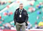 Fijian coach John McGee during the Autumn International Series match between England and Fiji at Twickenham, Richmond, United Kingdom on 19 November 2016. Photo by Ian  Muir.