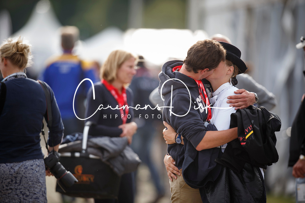 De Liedekerke Lara (BEL)  and her boyfriend Kai Steffen Meier (GER)<br /> HSBC FEI European Championships Eventing - Malm&ouml; 2013<br /> &copy; Dirk Caremans
