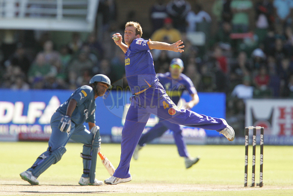 PORT ELIZABETH, SOUTH AFRICA - 02 May 2009. Shande Harwood during the  IPL Season 2 match between the Deccan Chargers and the Rajatshan Royals held at St Georges Park in Port Elizabeth , South Africa..