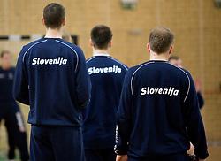 Open training session for the public of Slovenian handball National Men team before European Championships Austria 2010, on December 27, 2009, in Terme Olimia, Podcetrtek, Slovenia.  (Photo by Vid Ponikvar / Sportida)