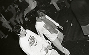 Two fans at a Happy Mondays gig at the Free Trade Hall in Manchester, 1989.
