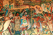 MEXICO, MEXICO CITY, MURAL Rivera mural 'Totonac Civilization'
