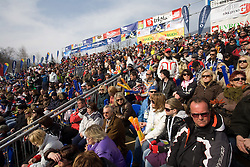Spectators at 9th men's slalom race of Audi FIS Ski World Cup, Pokal Vitranc,  in Podkoren, Kranjska Gora, Slovenia, on March 1, 2009. (Photo by Vid Ponikvar / Sportida)