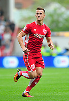 """Bristol City's Joe Bryan during the Sky Bet Championship match at Ashton Gate, Bristol. PRESS ASSOCIATION Photo. Picture date: Saturday August 27, 2016. See PA story SOCCER Bristol City. Photo credit should read: Simon Galloway/PA Wire. RESTRICTIONS: EDITORIAL USE ONLY No use with unauthorised audio, video, data, fixture lists, club/league logos or """"live"""" services. Online in-match use limited to 75 images, no video emulation. No use in betting, games or single club/league/player publications."""