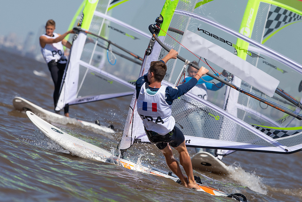 2018 Buenos Aires Youth Olympic Games. <br /> <br /> Five sailing events with 100 sailors from 44 different nations are taking place at Club N&aacute;utico San Isidro, Argentine including Girl's and Boy's Kiteboarding (Twin Tip Racing) and the Mixed Multihull (Nacra 15). Elsewhere, Girl's and Boy's Windsurfing (Techno 293+) are returning for its third consecutive Games from 16 to 18 October 2018. &copy; Matias Capizzano / World Sailing