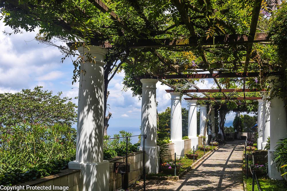 Gardens at Villa San Michele, located on Isle of Capri, just off the Amalfi Coast of Italy