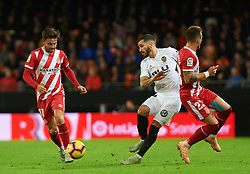 November 3, 2018 - Valencia, Valencia, Spain - Jose Luis Gaya of Valencia CF and Aleix Garcia of Girona FC during the La Liga match between Valencia CF and Girona FC at Mestala Stadium on November 3, 2018 in Valencia, Spain (Credit Image: © AFP7 via ZUMA Wire)