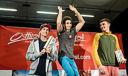 15.08.2016, Hauptplatz, Lienz, AUT, Free Solo Masters, im Bild v. l: 2. Platz Rustam Gelmanov (RUS), Sieger Alban Levier (FRA) und 3. Platz Sergii Topishko (UKR) // f. l.: 2nd place Rustam Gelmanov (RUS), winner Alban Levier (FRA) and 3rd place Sergii Topishko (UKR) during the Free Solo Masters at the Hauptplatz in Lienz, Austria on 2016/08/15. EXPA Pictures © 2016, PhotoCredit: EXPA/ JFK
