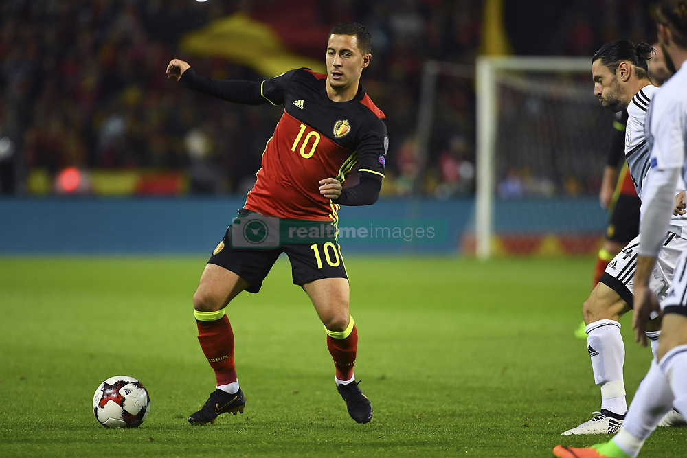 October 10, 2017 - Bruxelles, Belgique - Eden Hazard midfielder of Belgium (Credit Image: © Panoramic via ZUMA Press)
